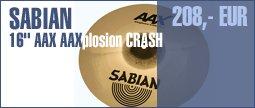 """Sabian 16"""" AAX AAXplosion Crash"""