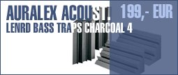 Auralex Acoustics Lenrd Bass Traps Charcoal 4
