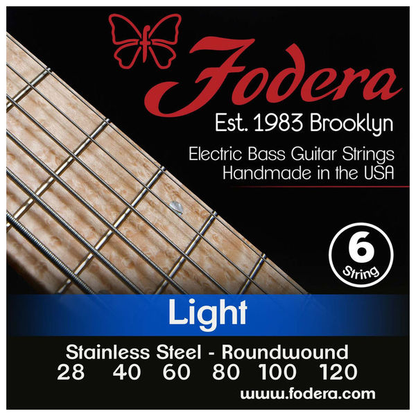 6-String Set Light Steel Med. Fodera
