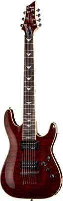 Schecter Diamond Omen 7 Extreme E-Gitarre schwarz/rot