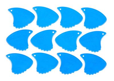 Shark Fin Plectrums Blue