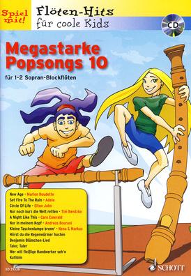 Schott Megastarke Popsongs 10 Rec