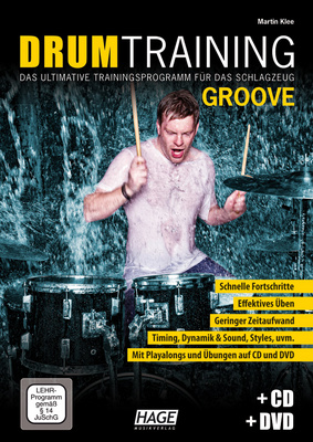 Hage Musikverlag Drum Training Groove +CD/DVD